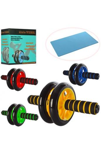 Тренажер MS 0872 колесо для м'язів преса, 27 см., діаметр 14 см., 4 кольори, кор., 20,5-20-9 см.