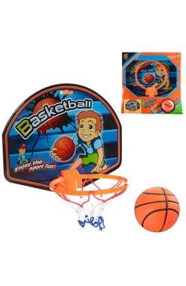 Кільце баскетбольне M 2904 щит, м'яч фомовий, сітка, підвішується на двері, кор., 28,5-30-6 см.