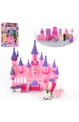 Замок SG-2977 принцеси, мебель, фигурка, карета, муз., світло, бат., кор., 39-49,5-12,5 см.