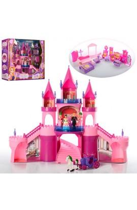 Замок SG-29001 принцеси, мебель, фігурки 2 шт., карета, муз., світло, кор., 57,5-47-17 см.