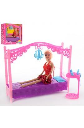 Меблі SY-2027-2 ліжко, столик, кукла, кор., 33-28,5-9 см.