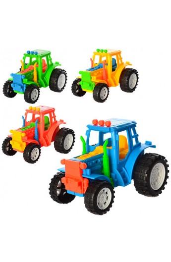 Трактор YB818-9 4 кольори, кул., 10,5-8-7 см.