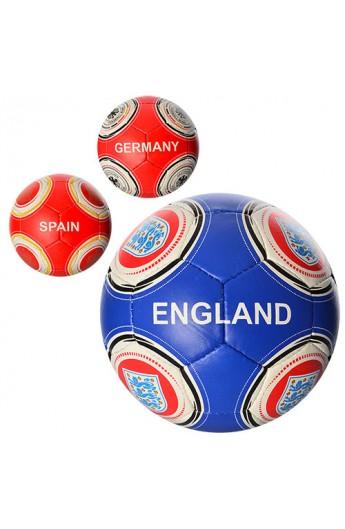 М'яч футбольний 2500-16ABC розмір 5, ПУ, 4 шари, 32 панелі, 3 види, 400-420 гр.
