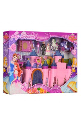 Замок SG-2973 принцес, фігурки, меблі, карета, муз., світло, бат., кор., 31,5-47-6 см.