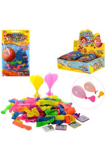 Кульки MK 0719 для гри з водою, 80 шт. в кул., 12 шт. в диспл., 26-18,5-7,5 см.
