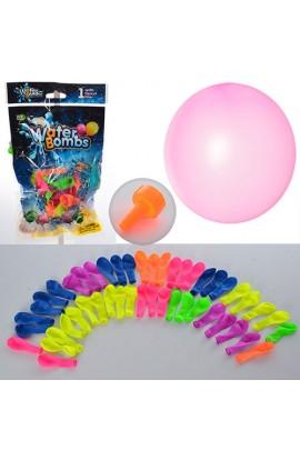 Кульки MK 0722 для гри з водою, насос, 50 шт. в кул., 14-24-3 см.