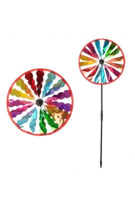 Вітрячок M 0790 розмір середній,  22, палочка, 2 види, кул., 25-28-2 см.