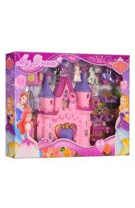 Замок SG-2971 принцеси, мебель, карета, фігурки, муз., світло, бат., кор,53-35,5-7 см.
