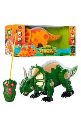 Дінозавр 7587 2 кольори, радіокер., ходить, муз., світло, бат., кор., 38-18,5-19 см