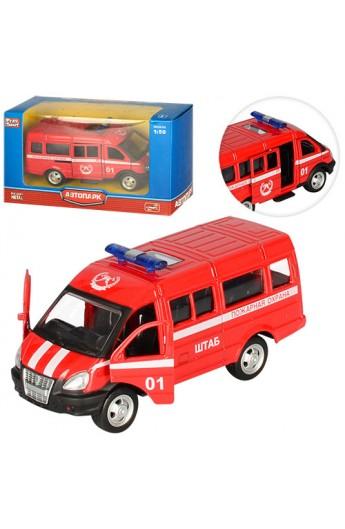 Газель 6404 E мет., інерц., пожежна машина, відчин. двері, гумові колеса, кор., 14,5-8-5,5 см.