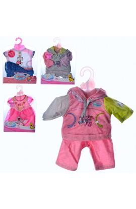 Лялькове вбрання BJ-414-DBJ-442-445A-B 4 види, кул., 22,5-28,5-0,5 см.