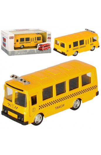 Автобус 6523E мет., інерц., відчин. двері, гумові колеса, кор., 15,5-7,5-6 см.