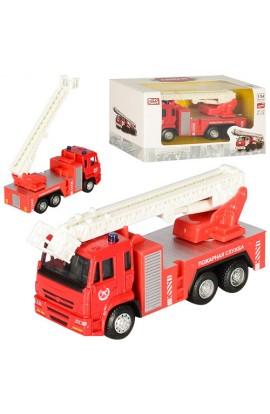 Машинка 6514A мет., інерц., пожежна, рухома стріла, кор., 16,5-9-6 см.