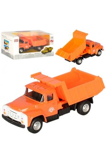 Самоскид 6517B мет., інерц., підійм. кузов, гумові колеса, кор., 15,5-7,5-6 см.