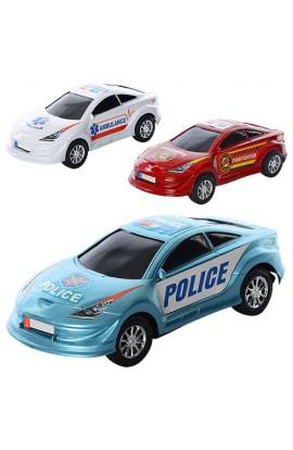 Машинка 3367-68-69A інерц., 3 види (поліція, швидка допомога, пожежна), кул., 19-29-8,5 см.