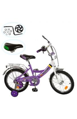 "Велосипед PROFI дитячий 12"" P 1248A  каретка американська, прист. колеса, дзеркало, дзвоник, фіолето"