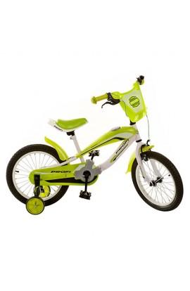 Велосипед PROFI дитячий 12  SX12-01-4 зелений, дзвінок, приставні колеса, кор.,61-19-32 см