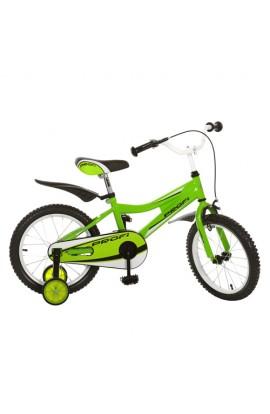 """Велосипед PROFI дитячий 16"""" 16BA494-3 зелений, каретка американ.,повний захист ланцюга, пластик"""