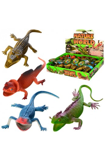 Тварина 837H-4S ящірка/крокодил, 24 шт. (4 види) в диспл., 40-30-6,5 см.