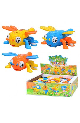 Заводна іграшка 06 стрекоза, 3 кольори, 6 шт. в диспл., 32,5 см