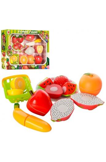 Продукти 617A липучка, фрукти, тарілка, ніж, кошик, кор., 34,5-25-5 см.
