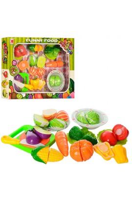 Продукти 618B липучка, овочі, тарілки, дощечка, ніж, кор., 42-32-6,5 см.