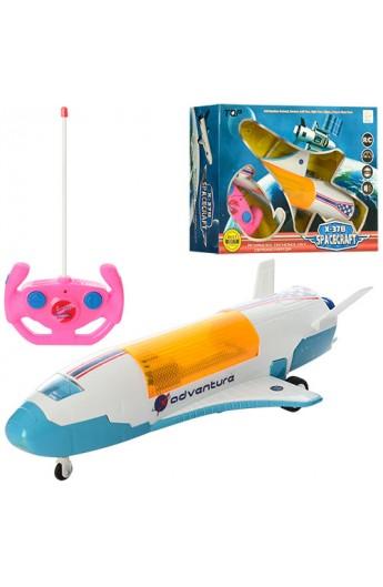 Літак BN033 радіокер., 2 режими гумові колеса, муз., світло, бат., кор., 33,5-24,5-9,5 см.