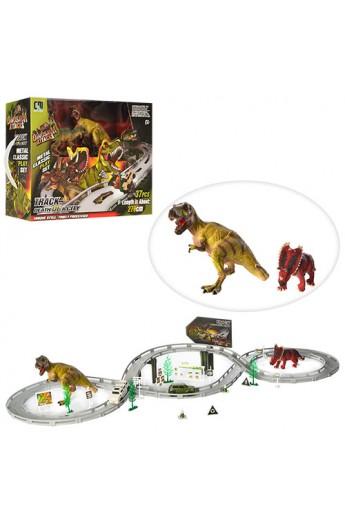 Трек CM558-52 37дет., динозаври 2 шт., машинки 2 шт., 2 види, бат. (таб.), кор., 42-31-14 см.
