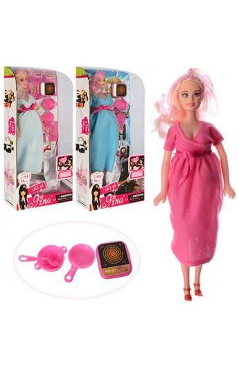 Лялька 6026T вагітна, пупс, посуд, фартух, мікс видів, кор., 15-31,5-6 см.