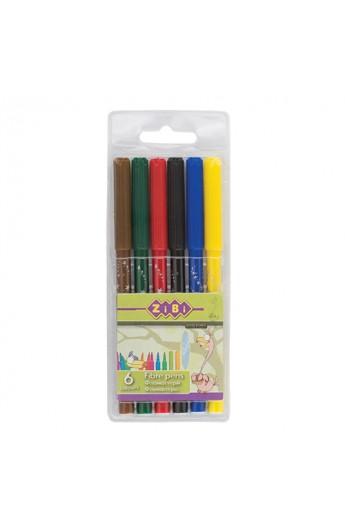 Фломастери, 6 кольорів