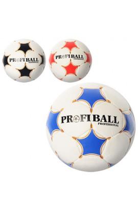 М'яч футбольний PROFIBALL 2500-14ABC розмір 5, ПУ 1, 4 мм, 4 шари, 32 панелі, 3 кольори, 410-430 г