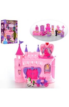 Замок SG-2991 принцеси, муз., світло, меблі, фігурки, бат., кор., 39-49-13 см