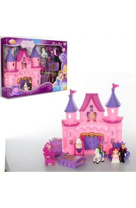 Замок SG-2978 принцеси, муз., світло, меблі, фігурка, карета, бат., кор., 44-31-7 см