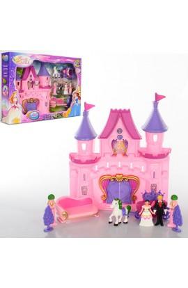 Замок SG-2965 принцеси, фіурки, карета, коні, диван, муз., світло, бат., кор., 45,5-32-7 см