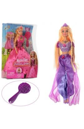 Лялька DEFA 8265,намисто, розчіска, 2види, муз., світло, бат., бліст., 23-32-6 см