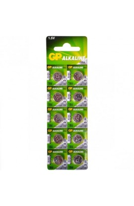 Батарейка GP Alkaline button cell . 1.5V 186-U10 год. лужна AG12, LR43