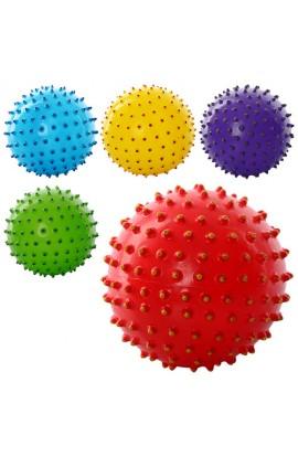 М'яч масажний MS 0025  5   ПВХ, 45 г, двокольоровий, 5 кольорів
