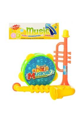 Музичні інструменти 33-22 бубен, дудка 2 шт., кул., 21-26-4 см