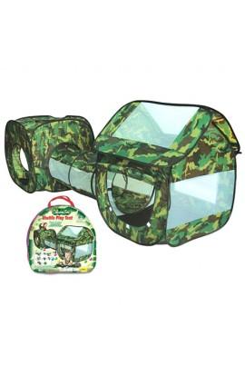 Палатка M 2504 з тунелем, вхід на липучці, отвір, сумка, 42-41-5 см