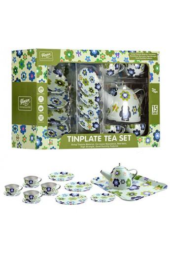 Посуд 555-CH010 чайний сервіз, мет., 15 предм., кор., 32-20,5-9,5 см.