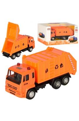 Машинка 6512A мет., інерц., сміттєвоз, гумові колеса, кор., 16,5-9-6 см.