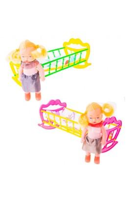 Дитяча іграшка  Ліжечко з лялькою  22*12*10 МГ 135 MaxGroup