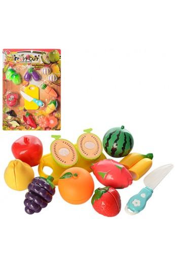 Продукти 6003-6004 на липучці, дощечка, ніж, 2 види (овочі, фрукти), лист, 31,5-44-4 см.