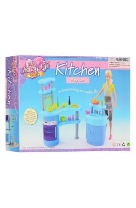 Меблі 2916 кухня, стійка, плита, мийка, посуд, кор., 31-21-6,5 см
