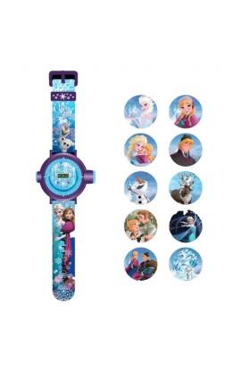 Годинник «Крижане серце» з проектором на 10 зображень (5 функцій: місяць, дата, години, хвилини, сек