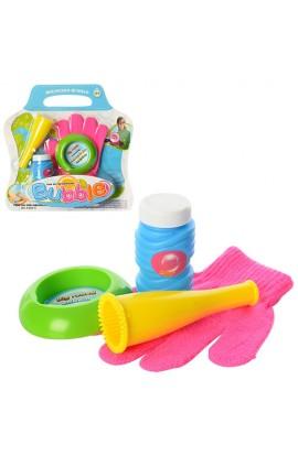 Мильні бульбашки 4948-S гра, дудка, рукавичка, запаска, лист, 24-24-4 см.