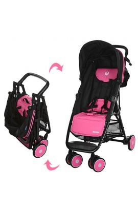 Візок дитячий MOTION M 3295-8 прогулянковий, глибокий дах, колеса 6 шт, корзина, рожево-чорний, кор.