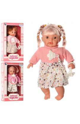 Лялька LD9906B-G-H 29 см., м`яконабивна, 3 види, муз., бат., кор., 20-36-10 см.
