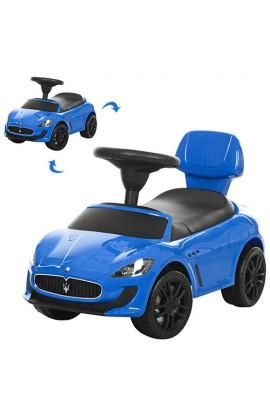 Каталка-толокар Z 353-4 багажник під сидінням, муз., бат., синій, кор., 69,5-38-31 см.
