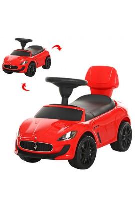 Каталка-толокар Z 353-3 багажник під сидінням, муз., бат., червоний, кор., 69,5-38-31 см.